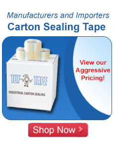 Manufacturers and Distributors of Carton Sealing Tape.