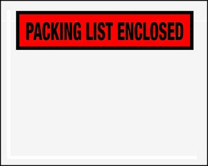 Packing List Enclosed - 10 1/2 x 5 1/2 - 1/4 Panel