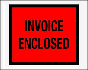 Invoice Enclosed - 4 1/2 x 5 1/2 - Covered Front